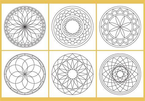 coloring mandala page vectors   vectors