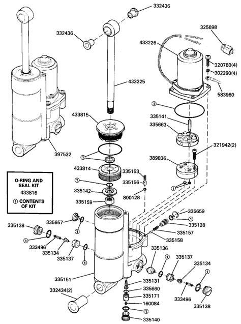 johnson power tilt trim parts for 1989 40hp j40tlcec outboard motor