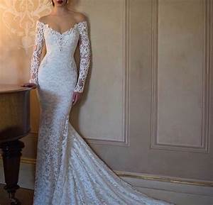 lacy tight fitting wedding dress with sleeves With tight fitted wedding dresses
