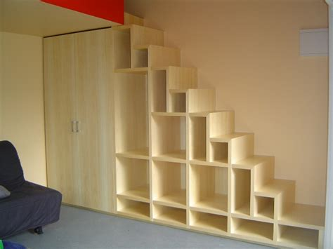 stair shelving ideas for space under stairs