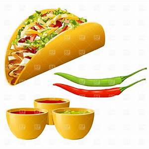 Mexican food - taco with hot pepper, Food and Beverages ...
