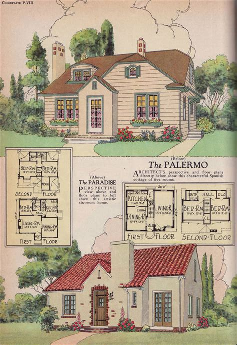 simple 1920s home plans ideas photo the 1926 palermo and paradise plans william a radford