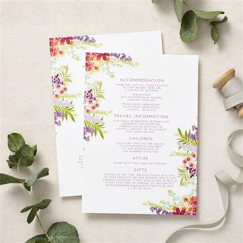 secret garden wedding invitation set by says i do