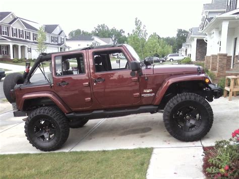 jeep wrangler maroon lifted jeep wrangler unlimited a photo on flickriver
