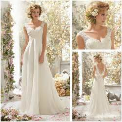 cap sleeve bridesmaid dresses floor length new white lace cap sleeve a line floor length wedding dresses bridal gown 2046296 weddbook