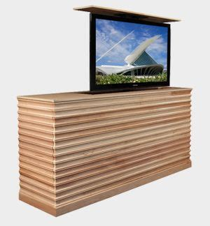 Hydraulic Lift Tv Cabinet by Maple Console With Hydraulic Tv Lift For The Living