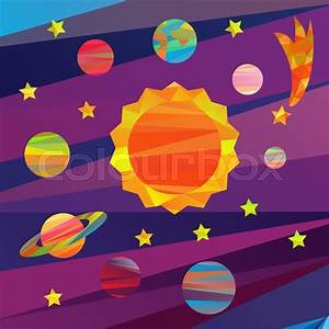 Collection Of Vector Images Of Planets In The Solar System