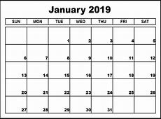 January Calendar All information about January 2019