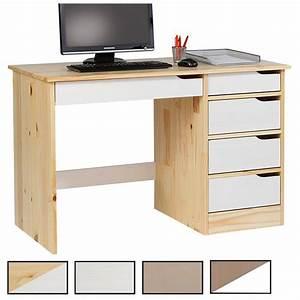 Schreibtisch Kiefer Massiv : schreibtisch hugo in kiefer massiv farbauswahl mobilia24 ~ Lateststills.com Haus und Dekorationen