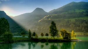 Green, Lake, Trees, Hd, Wallpaper