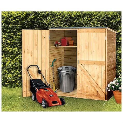solid wood outdoor storage shed  patio storage