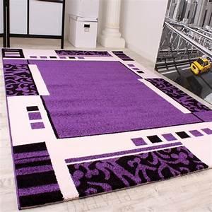 Teppich Lila Weiß : designer teppich muster in lila schwarz weiss top qualit t zum top preis wohn und ~ Indierocktalk.com Haus und Dekorationen