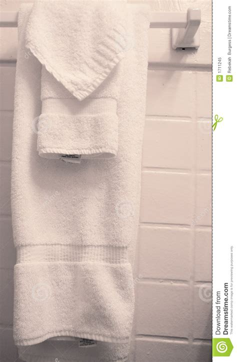 towels hanging  bathroom stock image image  domestic