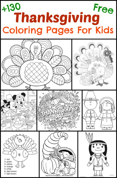 thanksgiving coloring pages  kids  suburban mom