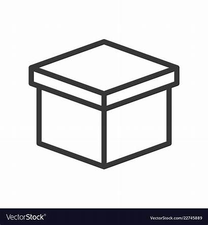 Box Outline Vector Shipping Icon Close Logistic
