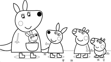 peppa pig   friends fun art coloring pages