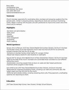 professional church volunteer templates to showcase your With church resume template