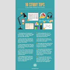 Infographic 10 Study Tips To Be More Productive  Ics Learn