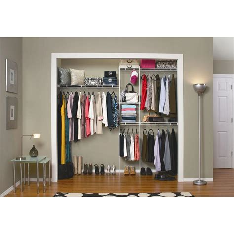 modern bedroom with home depot wire closet organizers