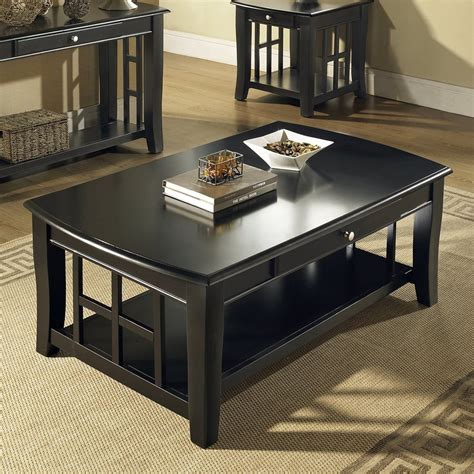 black and silver coffee table shop steve silver company cassidy ebony rectangular coffee