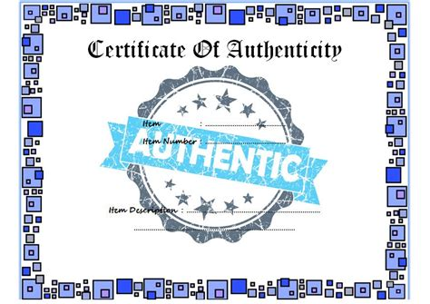 Certificate Of Authenticity Template Microsoft Word by Certificate Authenticity Template Microsoft Word Images