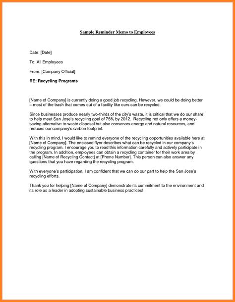 how to write a memo to staff sle memo letter to employee letters free sle letters