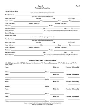 Estate Planning Worksheet  Hunter Amp Price Pa Fill Online, Printable, Fillable, Blank Hot