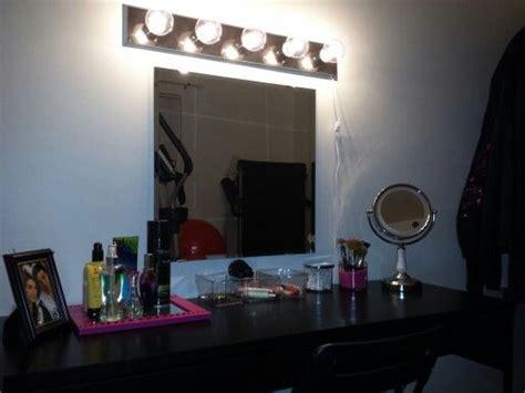 diy   vanity ikea micke desk  ikea mirror