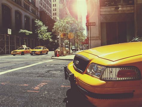 Free Stock Photo Of Cab, Cars, City
