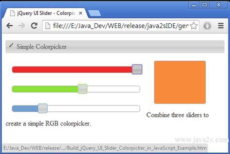 Colorpicker In Javascript