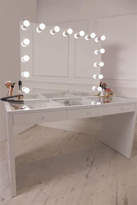 best lighting for makeup table crisp white finish slaystation make up vanity with premium