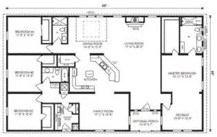 ranch house floor plans 4 bedroom this simple no watered space plan add a wraparound