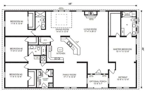 40x60 open floor plans ranch house floor plans 4 bedroom this simple no