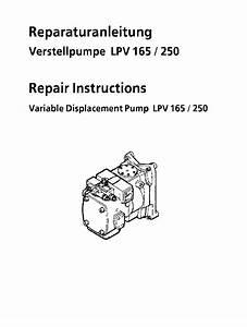 Liebherr Lpv 165 250 Hydraulic Pump Workshop Repair
