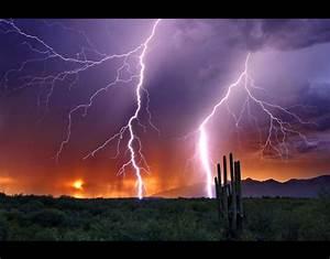 Lightning stikes in the Arizona desert | Storm chaser ...