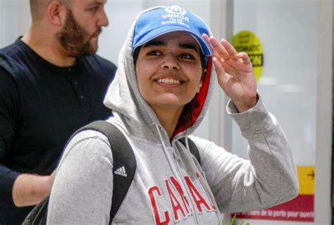 Rahaf Mohammed Al-qunun Llega A Toronto