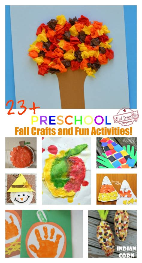 23 adorable and easy fall crafts that preschoolers 668 | PicMonkey Image fall craft collage