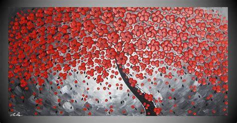 tree paintings part  acrylic art gemaelde malerei kunst