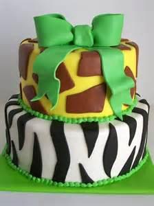 Animal Print Boy Baby Shower Cake