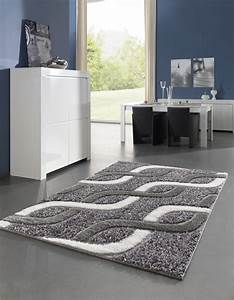 tapis moderne pour salon shaggy gris kolyos With tapis salon gris design