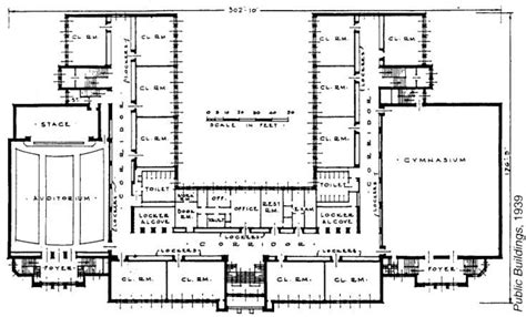 elementary school building design plans  blueprint