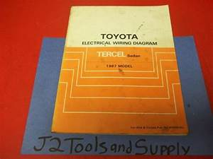 Genuine Toyota 1987 Tercel Sedan Dealership Electrical