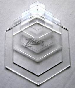 template nested 4quot x 1 8quot hexagon acrylic plastic stencil With hexagon quilt template plastic