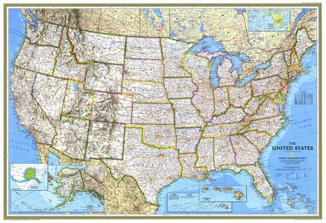 United States National Geographic Map  Google Search