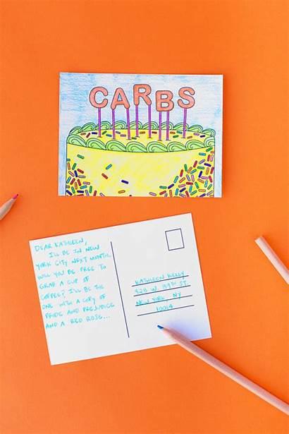 Postcards Printable Coloring Mindell Adult Postcard Studiodiy