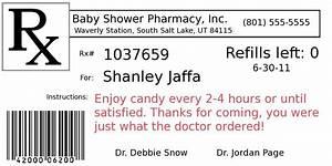 diy project pill bottle party favors graduation ideas With cvs prescription label template