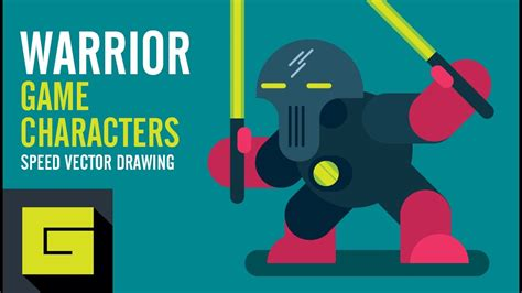 Speed Drawing How to draw Game Character Space Warrior