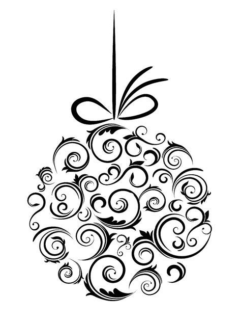 christmas clipart black  white