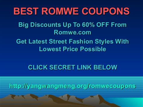 romwe coupons code discounts promo code