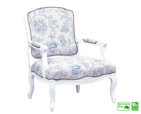 Louis Xv Accent Chair With White Frame, Sydney Furniture